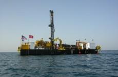 Bohrplattform im türkischen Vansee