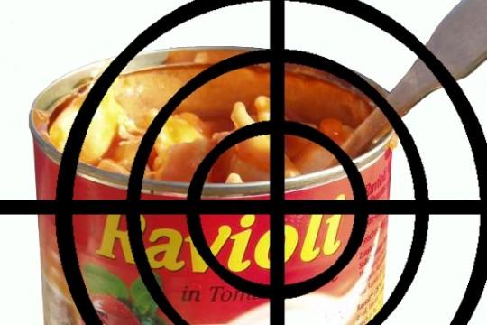 Schlechte Ernährung mit Konserven