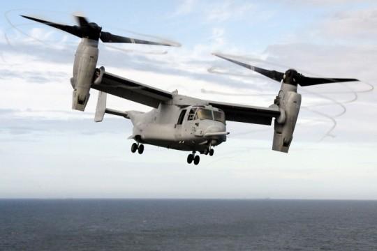 Sichtbare Wirbel bei einem Hubschrauber
