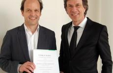 Ernennungsurkunde für Dr. Tobias Damm